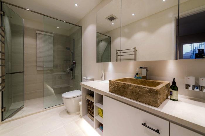 Bathroom renovation at Galveston Remodeling