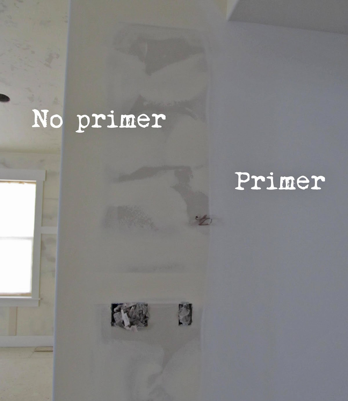 Primed vs. unprimed painting